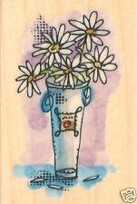 FLOWER Vase BOUQUET Wood Mounted Rubber Stamp INKADINKADO 95827 New
