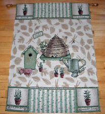 Pfaltzgraff Naturewood ~ Beehive Birdhouse Garden Tapestry Wall Hanging