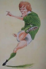 OLLIE CAMPBELL, IRELAND RUGBY PRINT by JOHN IRELAND