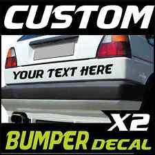 2X CUSTOM CAR BUMPER STICKERS Vinyl Decals Lettering / Graphics