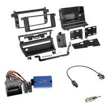 BMW 3er (E46 2001-2007) 2-DIN Radioblende (1 Schalter) schwarz + LFB Clarion Set