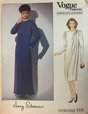 NEW & VINTAGE 1980s VOGUE DESIGNER SEMI FITTED A-LINE DRESS  PATTERN 1117 - 12