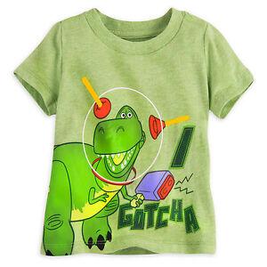 Disney Store Pixar Fest Toy Story Rex Dinosaur T Shirt Tee Boys Size 0-3 18-24 M