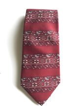 Tom James Burgundy Paisley Silk Luxury Wide Vintage Tie Neckwear Of Distinction
