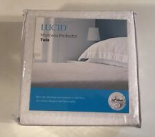 LUCID 100% Waterproof Mattress Protector Twin Size New