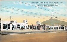 c.1920 Stores Drug Store Entrance Camp Grande El Paso TX post card