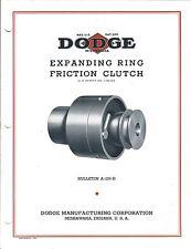 MRO Brochure - Dodge - Expanding Ring Friction Clutch - 1937 (MR162)