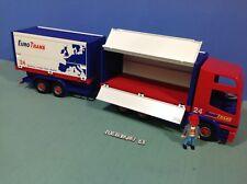 (O4323.4) playmobil  camion euro trans double remorque ref 4323