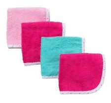 Gerber Baby Girl 4-Pack Solid Premium Washcloths Baby Clothes Shower Gift!