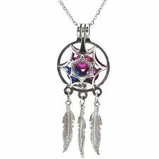 Dream Catcher Pearl Cage Floating Locket Necklace NO Akoya Oyster Pearl Gift