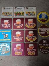Beer drinks mats drip coaster WHITBREAD Trophy Tankard job lot collection