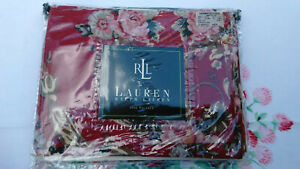 """RALPH LAUREN  RED """"MARSEILLES VALANCE-84 X 17-  3 AVAILABLE-LINED  COTTON"""