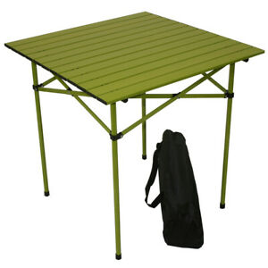 Table in a Bag TA2727G  Regular Aluminum Portable Table with Carrying Bag Green