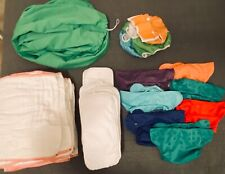 New ListingStash of flip cloth diapers, inserts, and wet dry pail liner
