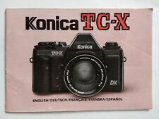 Konica TC-X original printed instruction user manual guide