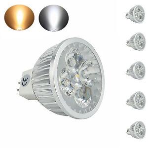 5-pack x 4W MR16 GU5.3 LED Bulb 12V Dimmable G5.3 Bi-pin LED Spot Light