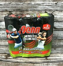 6 Cans Penn Championship Tennis Balls Regular Duty Felt New! Free! Fast Shipping
