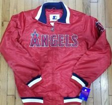 Authentic Red Los Angeles Angels Starter Brand MLB Satin Jacket