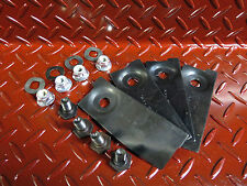 """1 x set , 4 x blade and bolt suit masport and morrison 18""""  lawn mowers"""