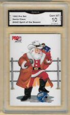 1992 Pro Set Santa Claus # NNO Spirit of the Season Giants GMA 10 GEM MT