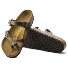 1130a1036a7a7 Birkenstock Mayari R Leather Womens Thong Sandals Golden Brown 37 M