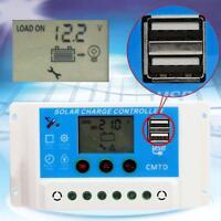 10A 12V/24V LCD Panneau solaire Contrôleur charge de batterie Régulateur CE EP