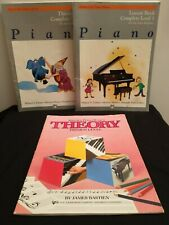 Alfred's Basic Piano Complete Theory Level 1 Bastien Theory Premier Book Lot