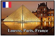LOUVRE, PARIS, FRANCE - SOUVENIR NOVELTY FRIDGE MAGNET - BRAND NEW - GIFT