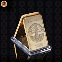 WR Odin - Life Tree Gold Bar Commemorative In Plastic Capsule Gifts for Husband