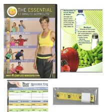The Essential 12 Min Workouts DVD 7 Day Slimdown Diet w/ Shopping List & Measure