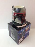 Vintage Star Wars Boba Fett Sculpted Figural Helmet Shaped Mug 12 oz Applause 96