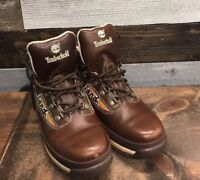 Timberland Euro Hiker - Hiking Comfort Leather Boots Brown Men's 5.5