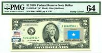 $2 DOLLARS 2009 STAR STAMP CANCEL FLAG OF UN FROM SOMALI VALUE $5000