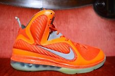 CLEAN Nike Lebron 9 All Star Galaxy Big Bang 520811-800 Size 10 Orange Silver