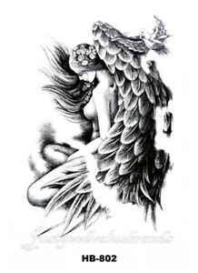 Angelic Spirit Peaceful Angel and Dove Temporary Tattoo
