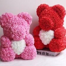 25cm 40cm Foam Rose teddy bear Flower valentine day gift pink Heart Decoration