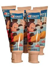 Mickey Mouse Childrens Toothpaste Crest Strawberry Flavored 5 Tubes - 4.2oz Each