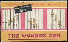 Set of 3 Embroidered Hankies - The Wonder Zoo w Die-cut Cage