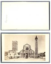 Italie, Vérone La basilique San Zeno CDV vintage albumen carte de visite,  Tir