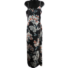 1. STATE Gray & Multi-Color Floral Sleeveless Maxi Dress Women's Size 4