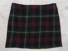 BNWoT Polo Ralph Lauren Wool Alpaca Tartan Mini Skirt  size 12 (UK 16) SALE
