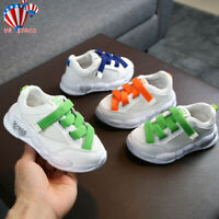 Toddler Infant Kids Baby Girls Boys Sole Mesh Running Sport Shoes Sneakers US