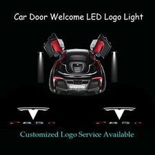 2x Car Door Laser Projector Shadow CREE LED Logo Light for Tesla Model S P85D