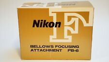 NIKON PB-6 Bellows Focusing attachment in box with rail caps EXCELLENT CONDITION