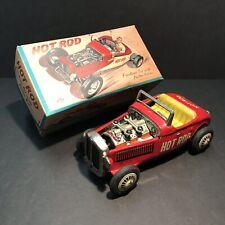 Hot Rod Tin Friction Car Vintage Japan T.N Nomura