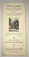 =Vintage Jamestown Island 1940's Virginia Map Brochure