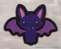 "Embroidered 7/"" Wild Pattern Blackwork Black Bat Patch Halloween Iron On Sew USA"