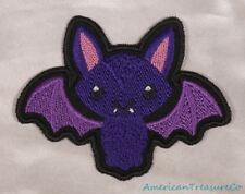 Embroidered Adorable Kawaii Cute Purple Baby Bat Patch Halloween Iron On Sew USA