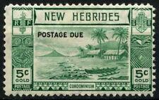 New Hebrides English 1938 SG#D6, 5c Postage Due MH #D31609