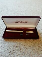 Hargreaves Lansdown Satin Gold / Silver Chrome Luxury Fountain Pen (New)